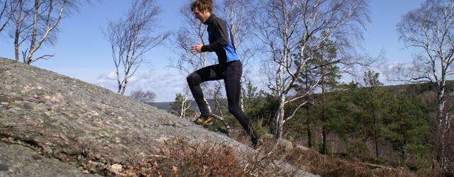 Skatås X-trail går rakt uppför den branta Getryggen