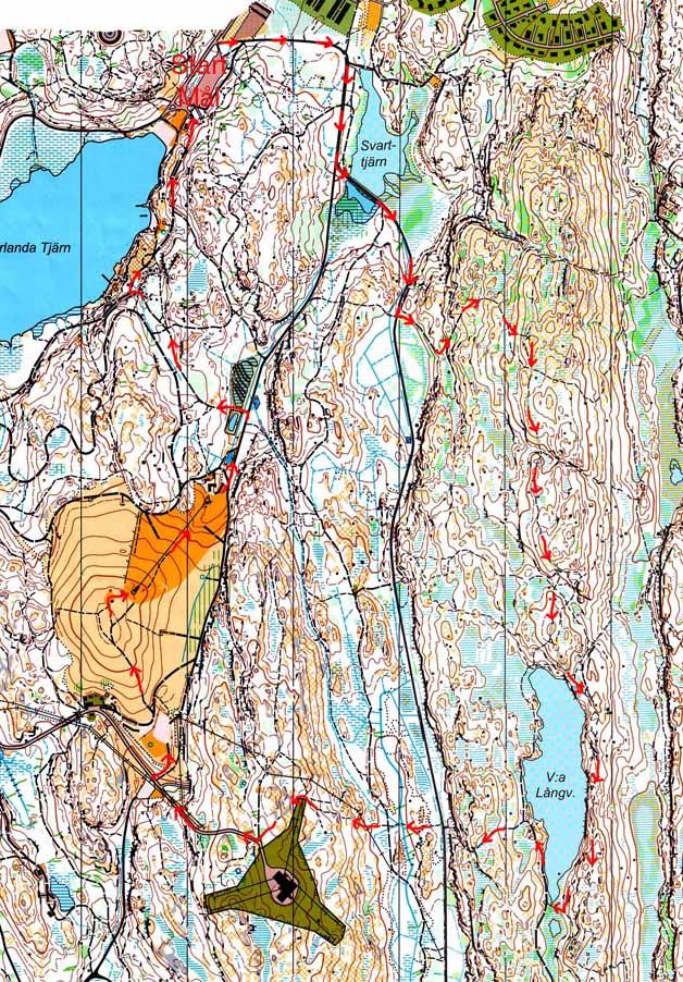 Prova trailrunning i Skatås, här är en detaljerad karta över en fin löprunda där.