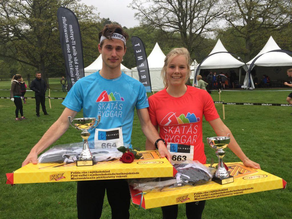 Fredrik Eden och Sara Hagström, Skatås ryggar dubbla tvåor på TrailVarvet